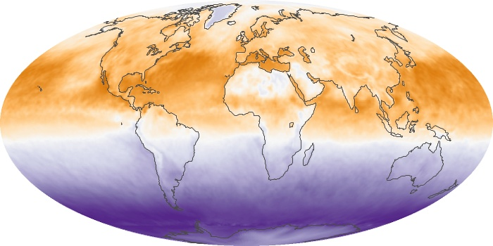 Global Map Net Radiation Image 145
