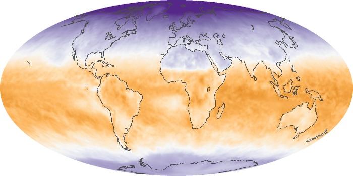 Global Map Net Radiation Image 160