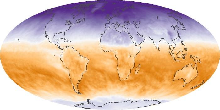 Global Map Net Radiation Image 161