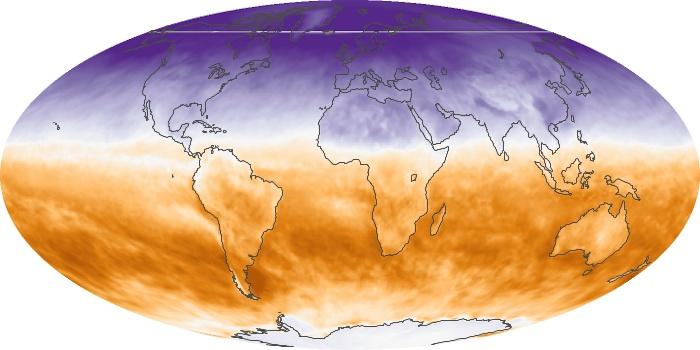 Global Map Net Radiation Image 162