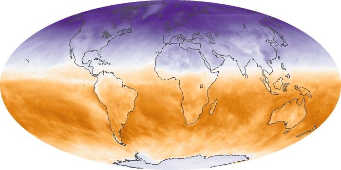 Global Map Net Radiation Image 163