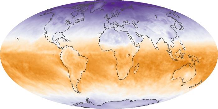 Global Map Net Radiation Image 164