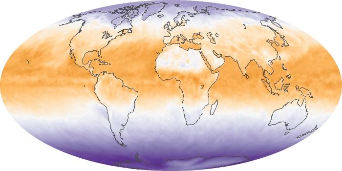 Global Map Net Radiation Image 166