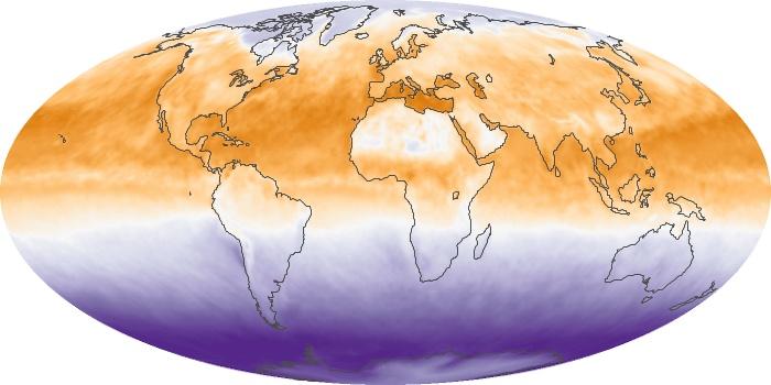 Global Map Net Radiation Image 167