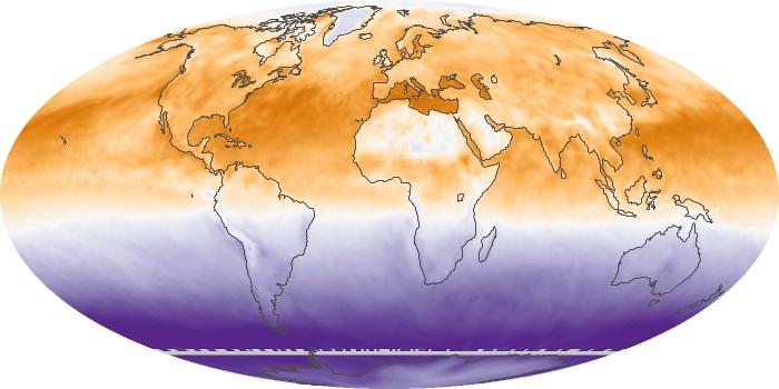 Global Map Net Radiation Image 168