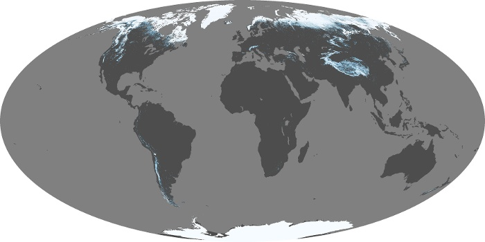 Global Map Snow Cover Image 3