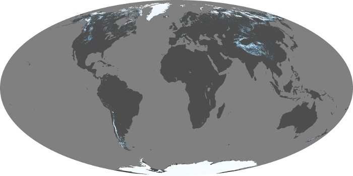 Global Map Snow Cover Image 7