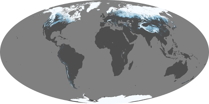 Global Map Snow Cover Image 14