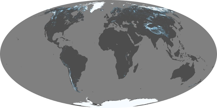 Global Map Snow Cover Image 19