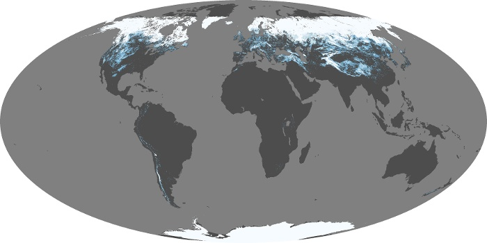 Global Map Snow Cover Image 21