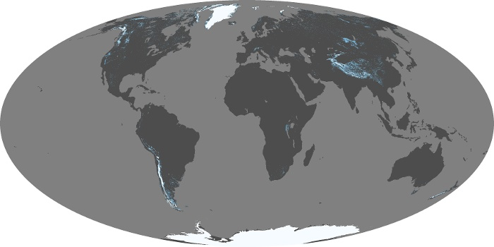 Global Map Snow Cover Image 2