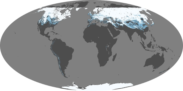 Global Map Snow Cover Image 35