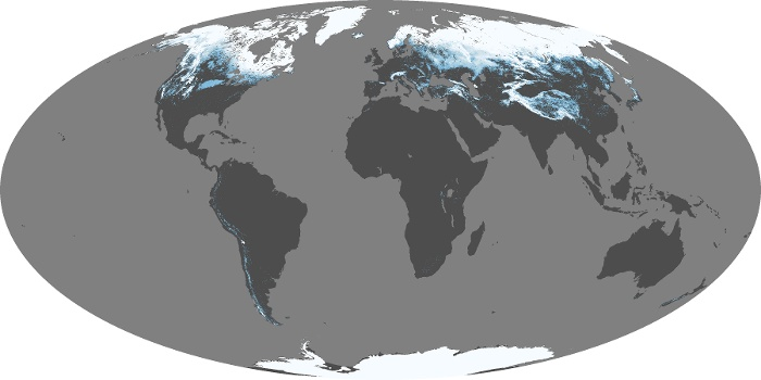Global Map Snow Cover Image 38