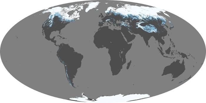 Global Map Snow Cover Image 50