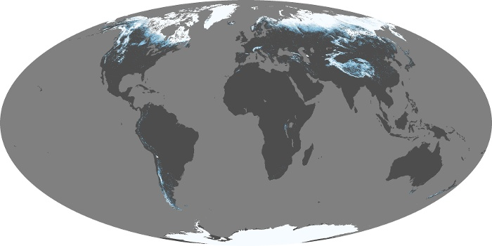 Global Map Snow Cover Image 51