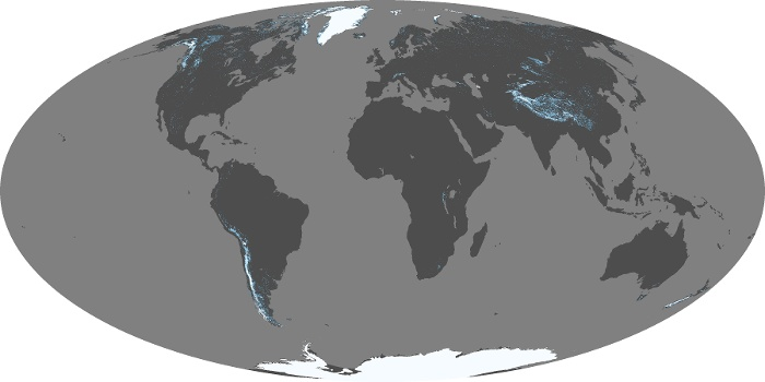 Global Map Snow Cover Image 54