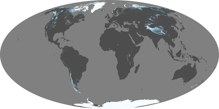 Global Map Snow Cover Image 36
