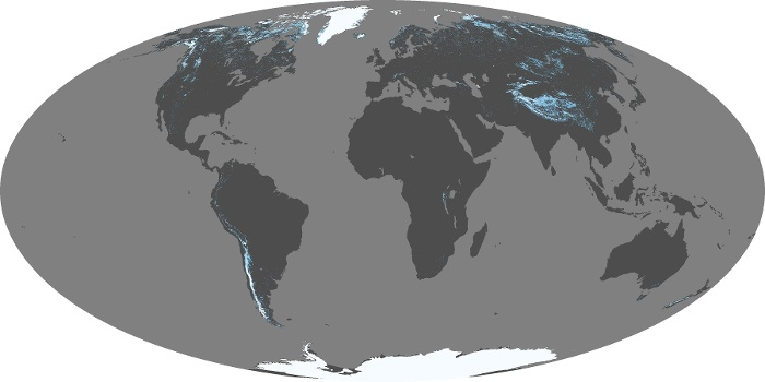 Global Map Snow Cover Image 39