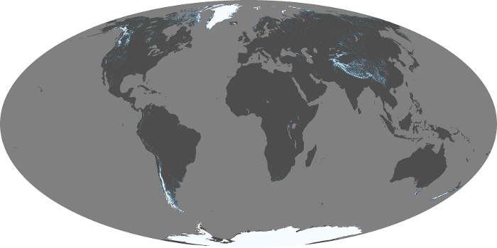 Global Map Snow Cover Image 1