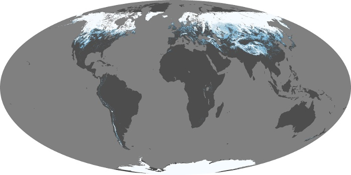 Global Map Snow Cover Image 5