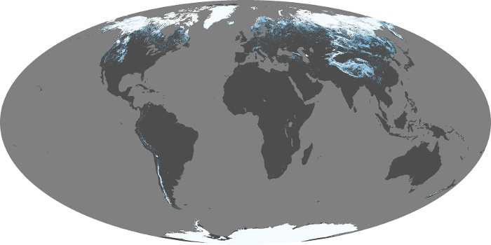 Global Map Snow Cover Image 92