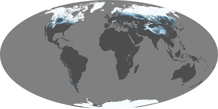 Global Map Snow Cover Image 70