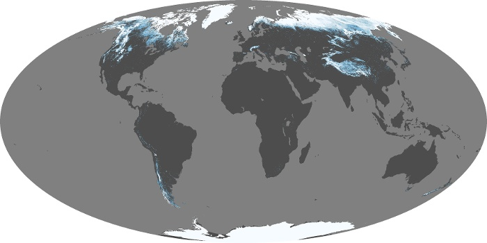 Global Map Snow Cover Image 23