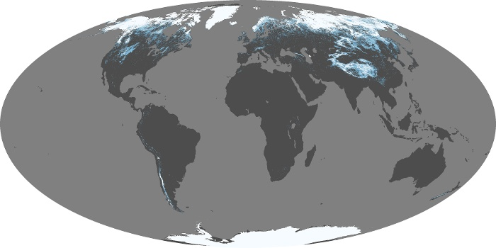 Global Map Snow Cover Image 76
