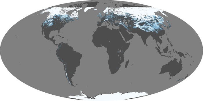 Global Map Snow Cover Image 117