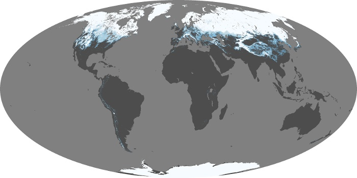 Global Map Snow Cover Image 121