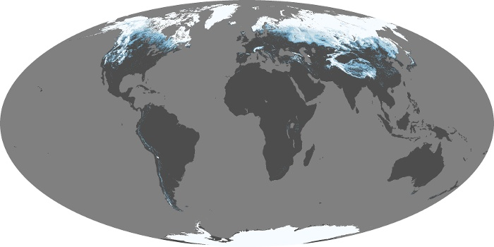 Global Map Snow Cover Image 122