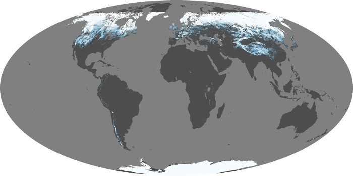 Global Map Snow Cover Image 129
