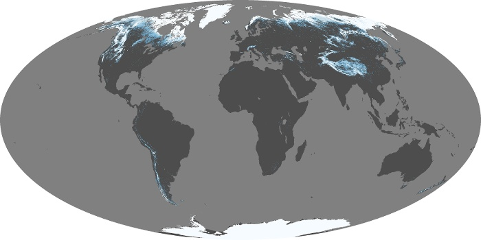 Global Map Snow Cover Image 135