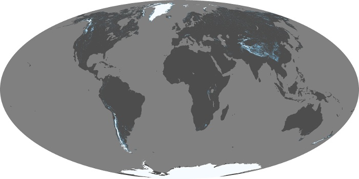 Global Map Snow Cover Image 110