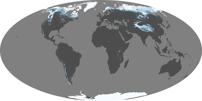 Global Map Snow Cover Image 147