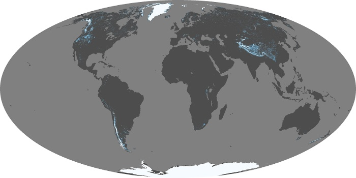 Global Map Snow Cover Image 150