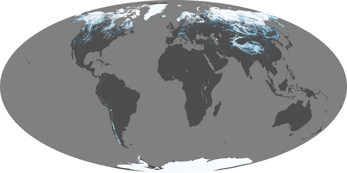 Global Map Snow Cover Image 152