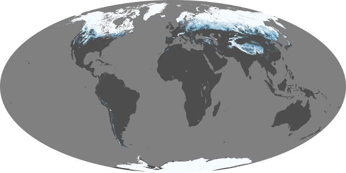 Global Map Snow Cover Image 130