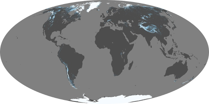 Global Map Snow Cover Image 84