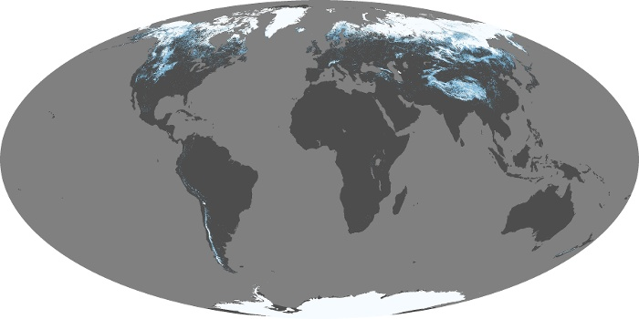Global Map Snow Cover Image 164