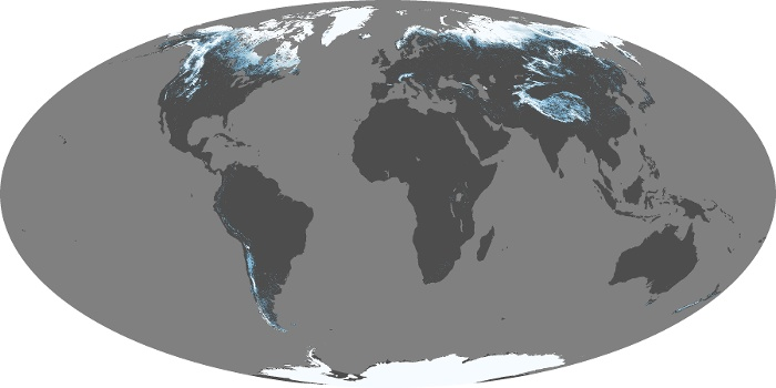 Global Map Snow Cover Image 171