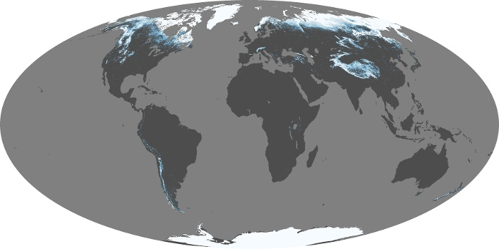 Global Map Snow Cover Image 107