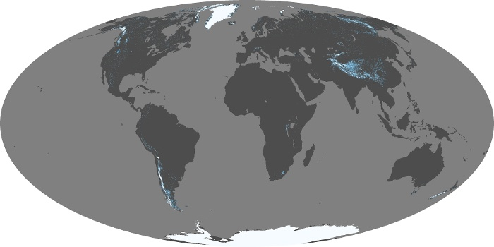 Global Map Snow Cover Image 198