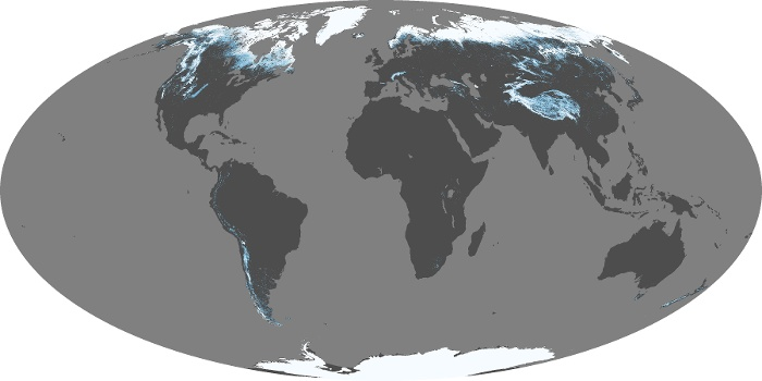 Global Map Snow Cover Image 207