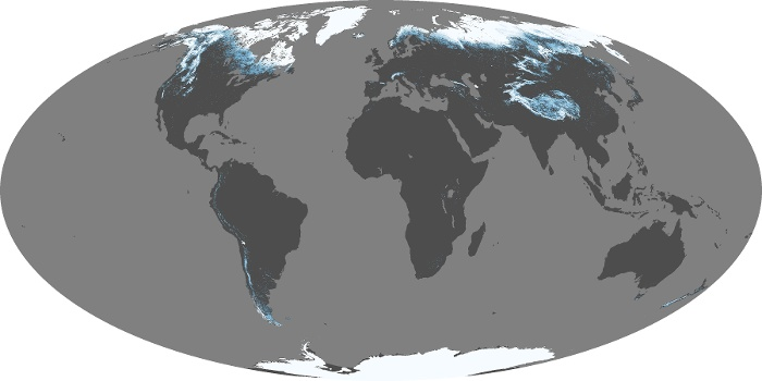 Global Map Snow Cover Image 219