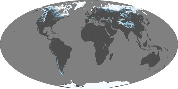 Global Map Snow Cover Image 155