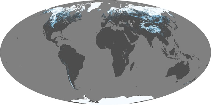 Global Map Snow Cover Image 160