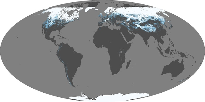 Global Map Snow Cover Image 161
