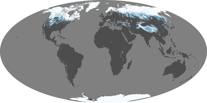 Global Map Snow Cover Image 166