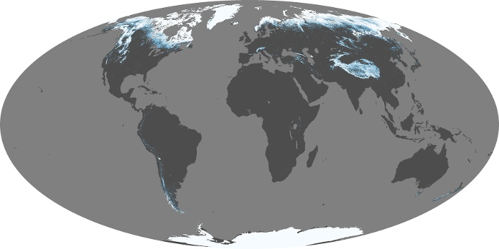 Global Map Snow Cover Image 167